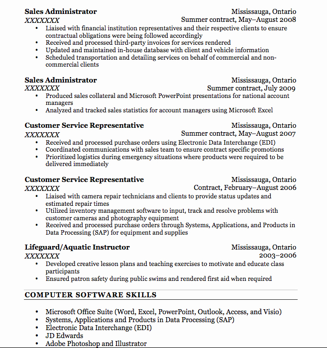 Resume Bullet Points F Resume