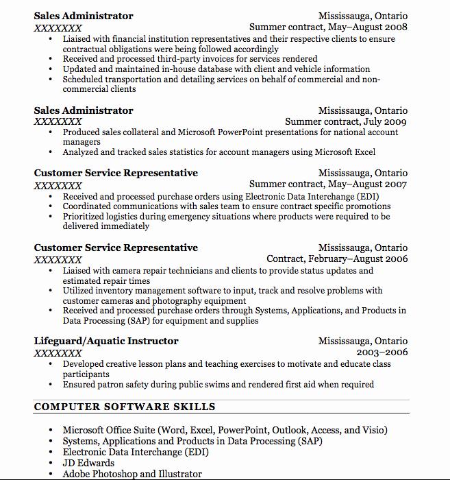 Resume Bullet Points F Resume