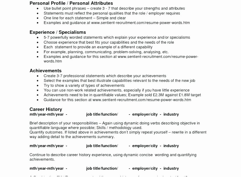 Resume Bullet Points Tierianhenry