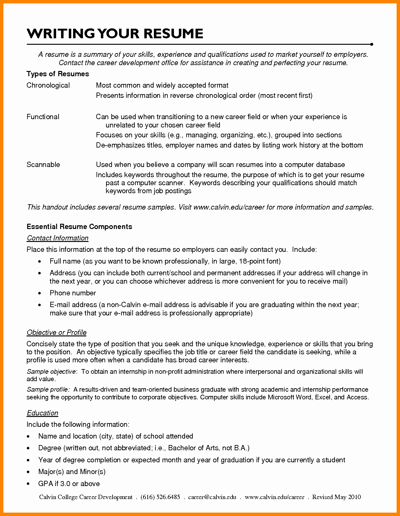 Resume Career Change Objective Sidemcicek