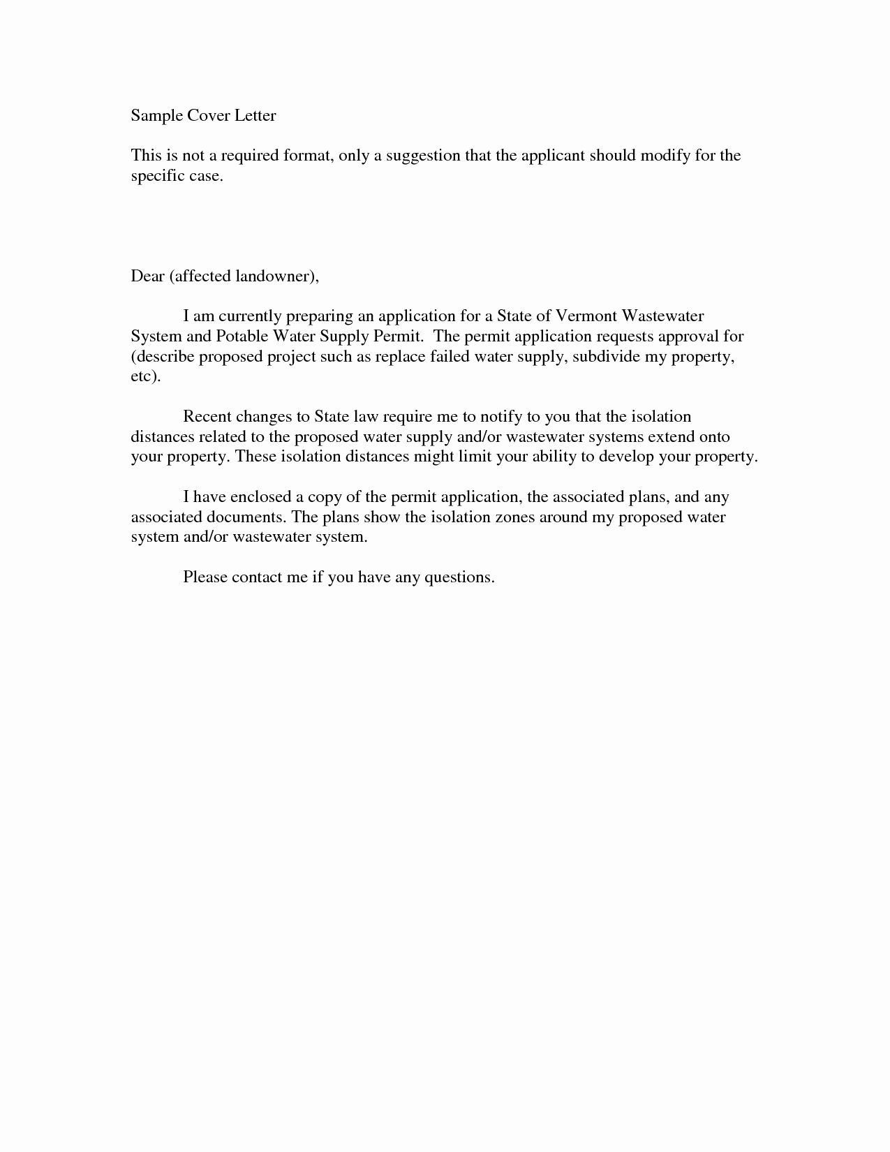 Resume Cover Letter Example for First Job