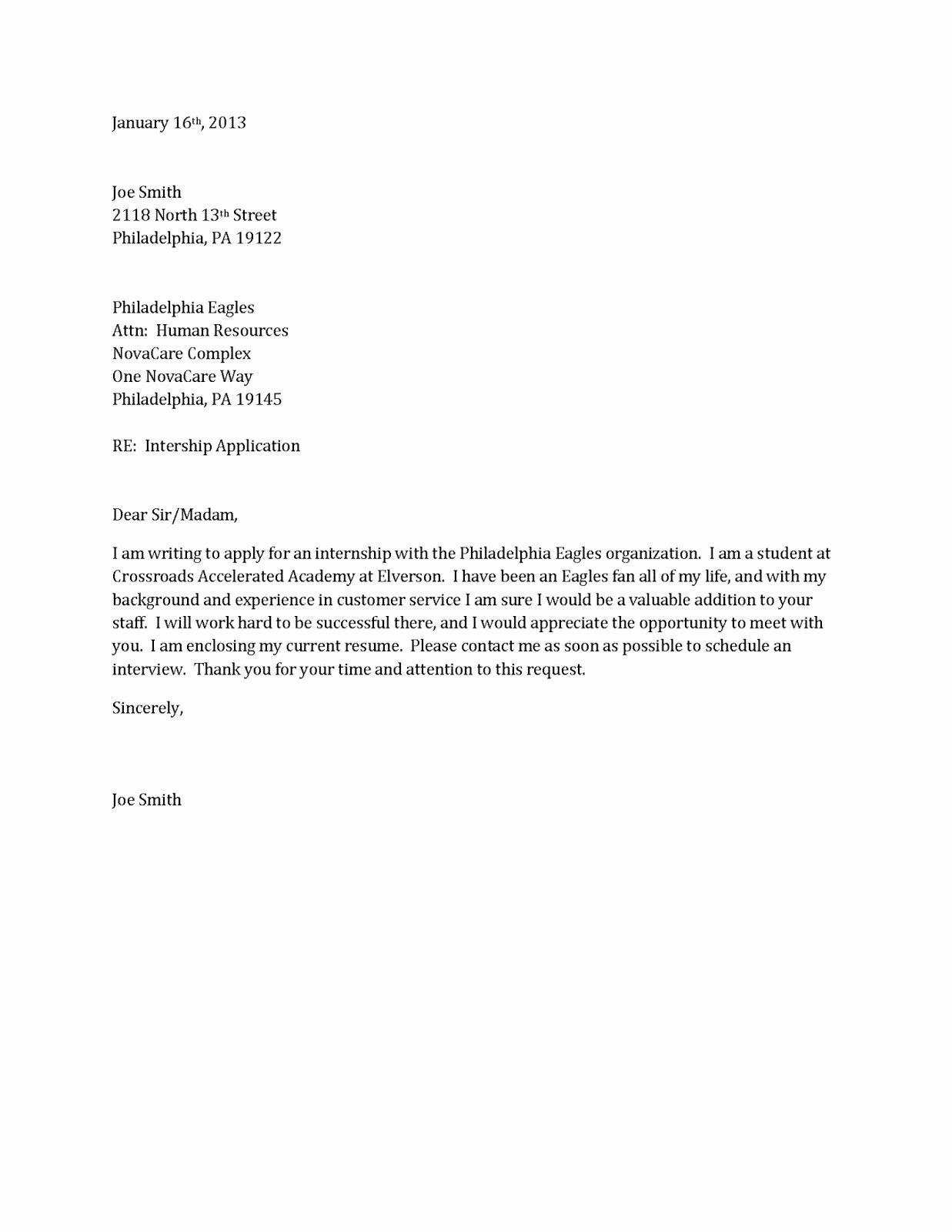 Resume Cover Letter Examples Homework