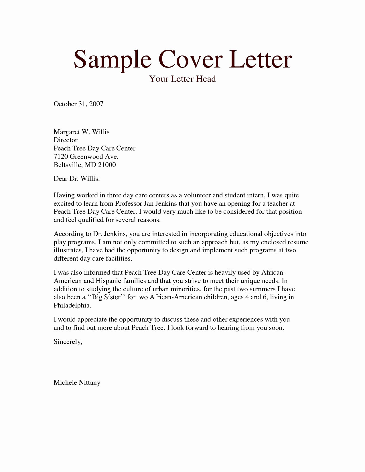 Resume Cover Letter Teacher Aide Sidemcicek