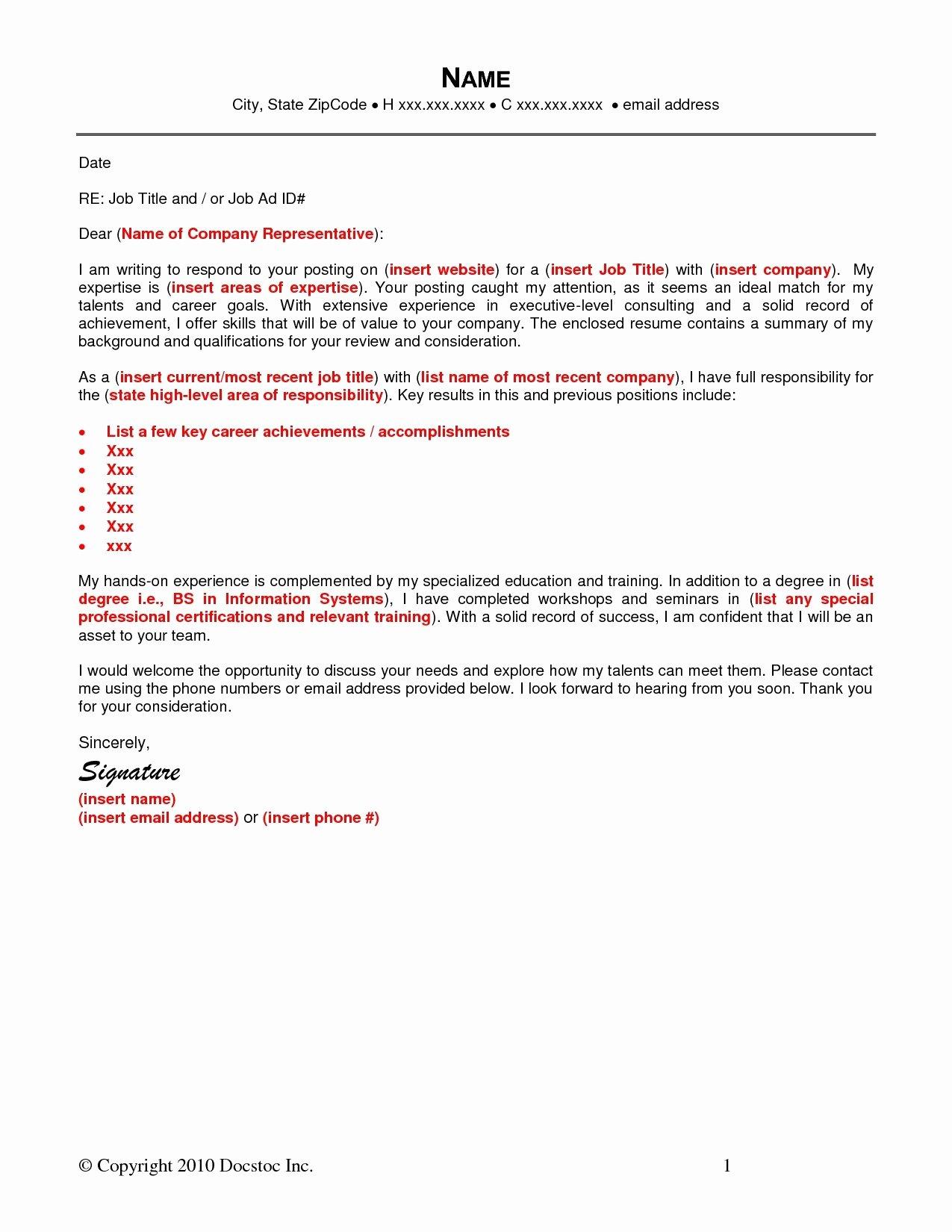 resume cover letter via email sample
