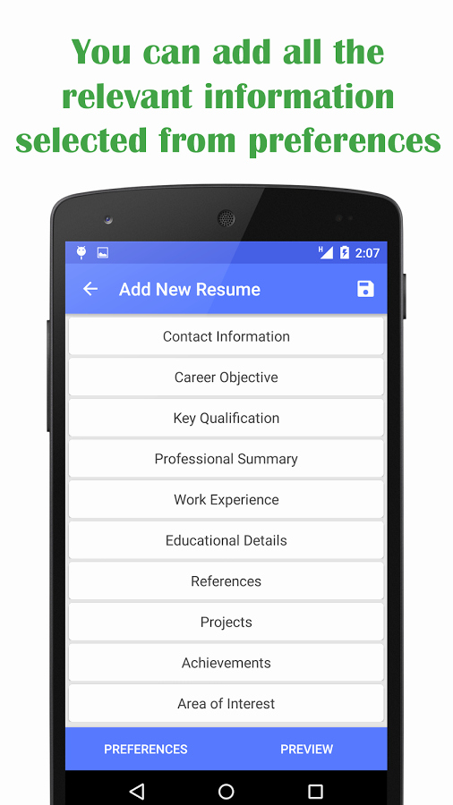 Resume Creator App for android