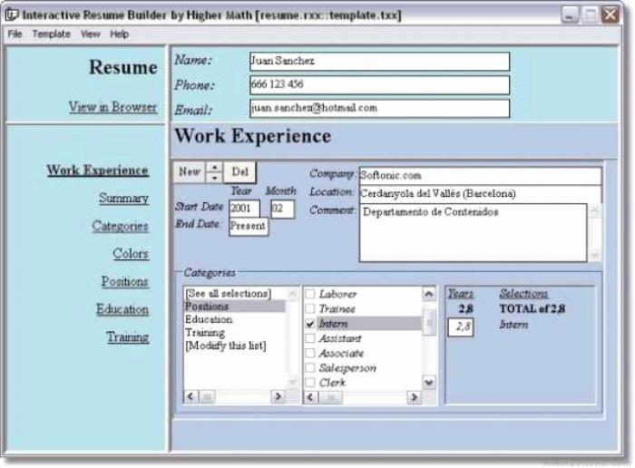 resume creator free