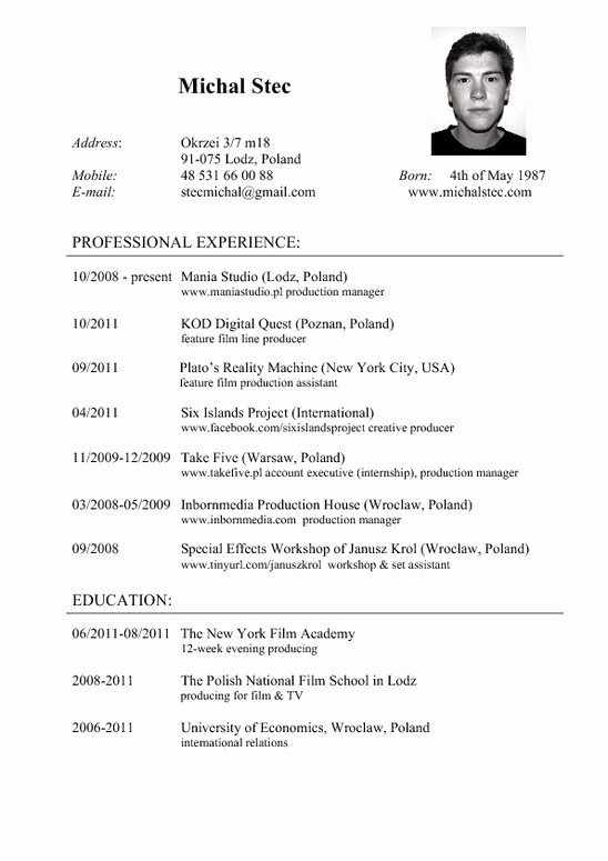 Resume Cv Resumecvs