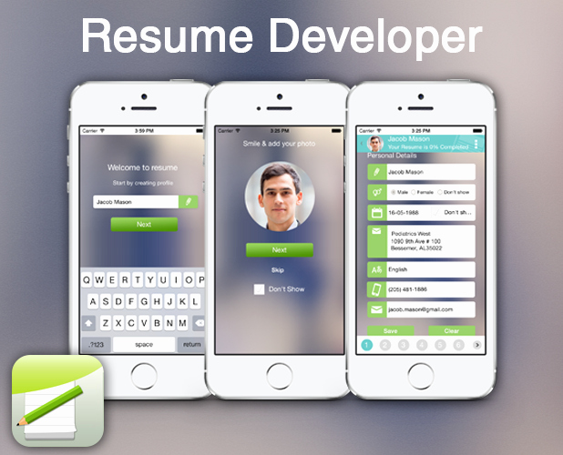Resume Developer – Create Resume On the Go