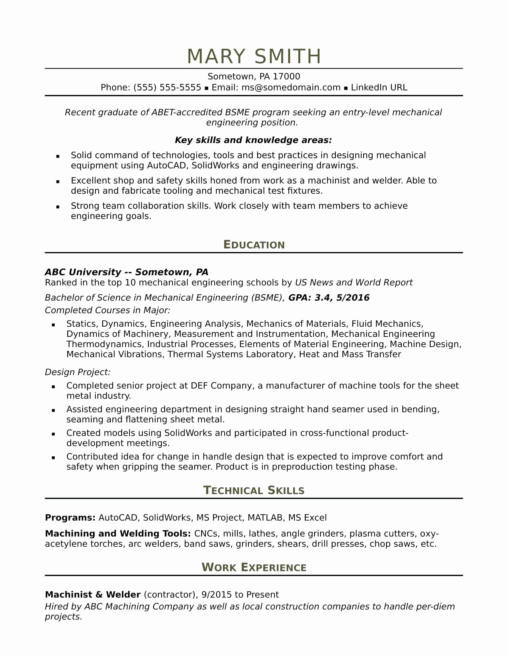 Resume Diesel Mechanic Resume Examples
