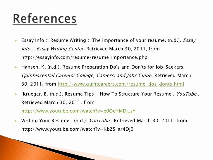 Resume Do's and Don't's