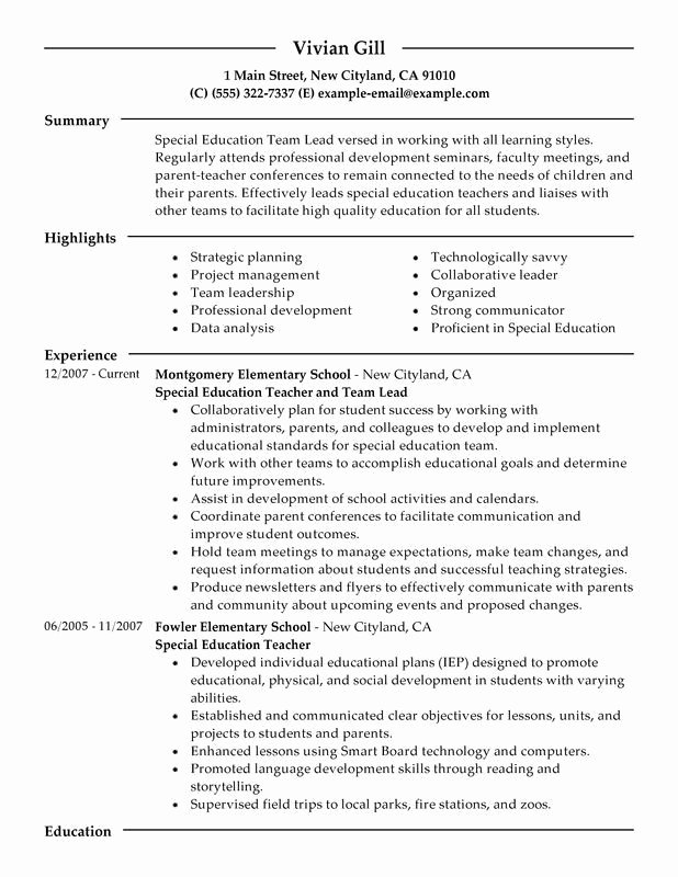 Resume Education Professional Development