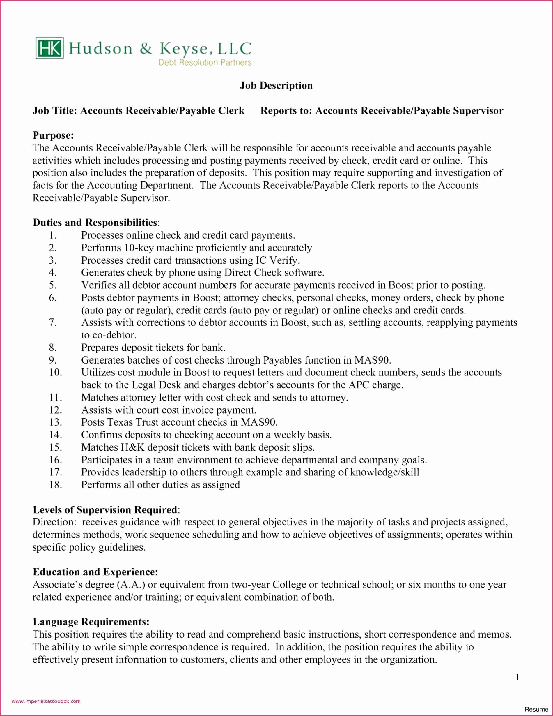 Resume Education Valid Accounts Payable Resume Fix My