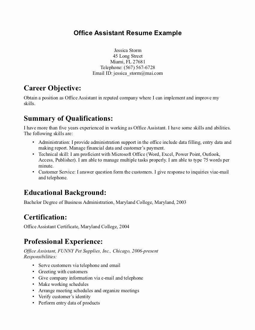 Resume Example for Medical Fice Front Desk – Perfect