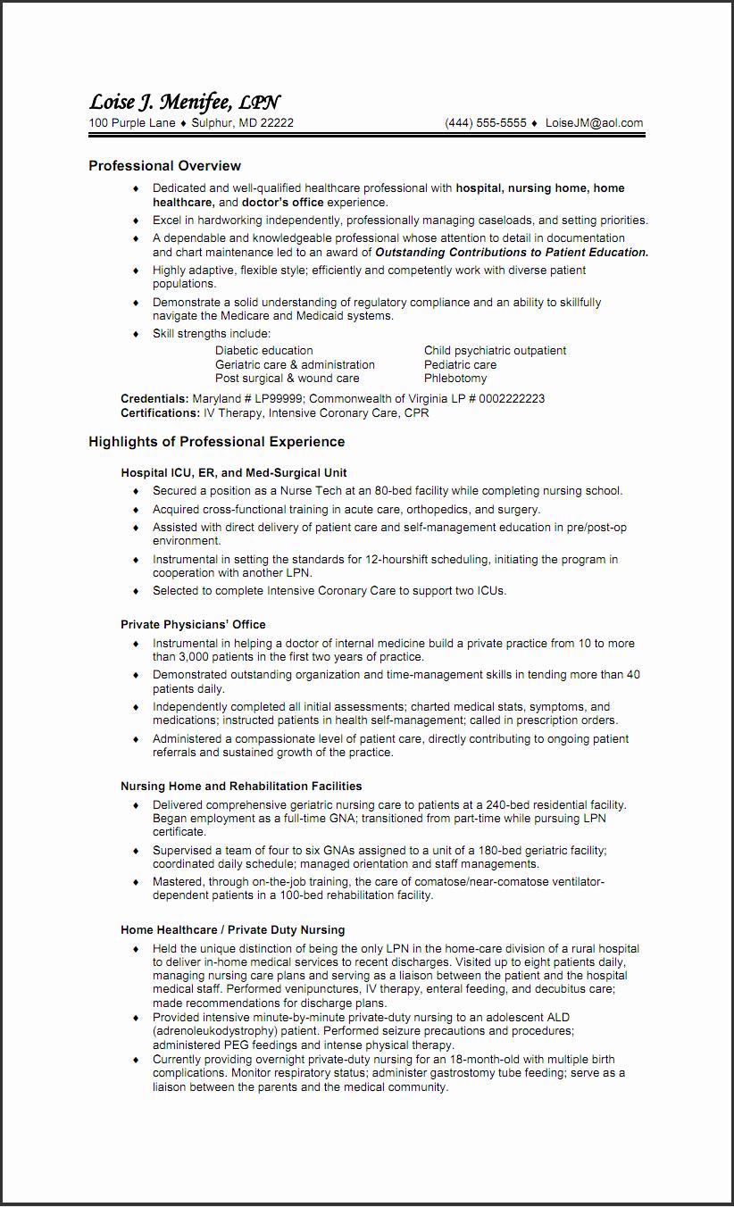lpn job description for resume