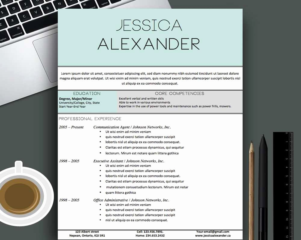 Resume Example Free Creative Resume Templates for Mac
