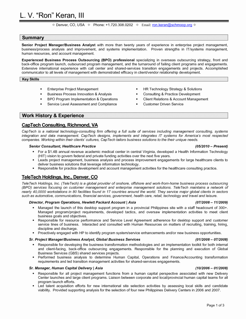 Resume Example Retail Store Manager Examples Job
