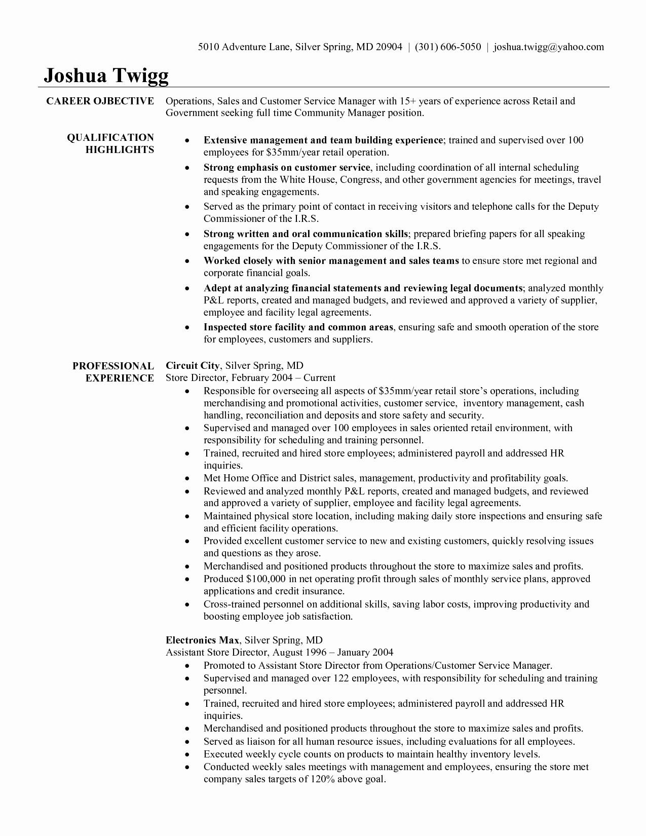 Resume Example Retail Store Manager Examples Strengths and
