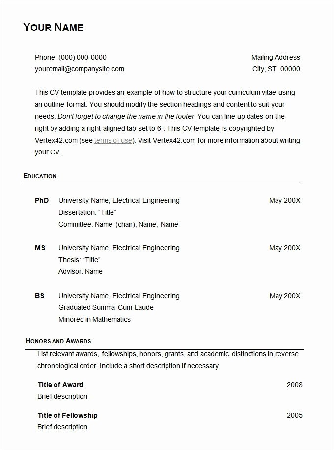 Resume Examples Basic Best Resume Collection