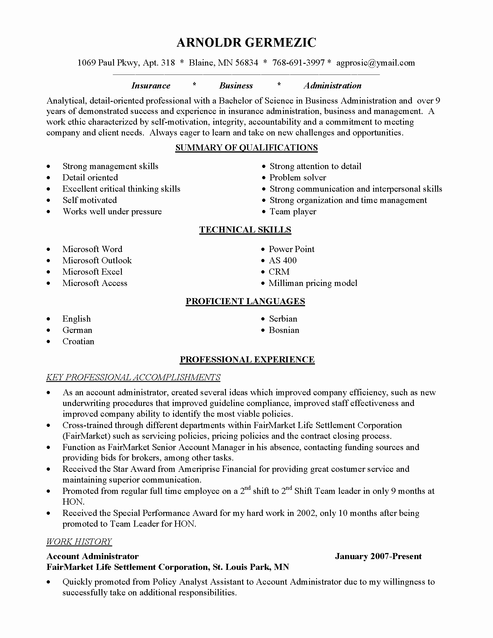 Resume Examples Career Change 2018