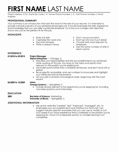 Resume Examples for Older Workers Awesome Resume Template