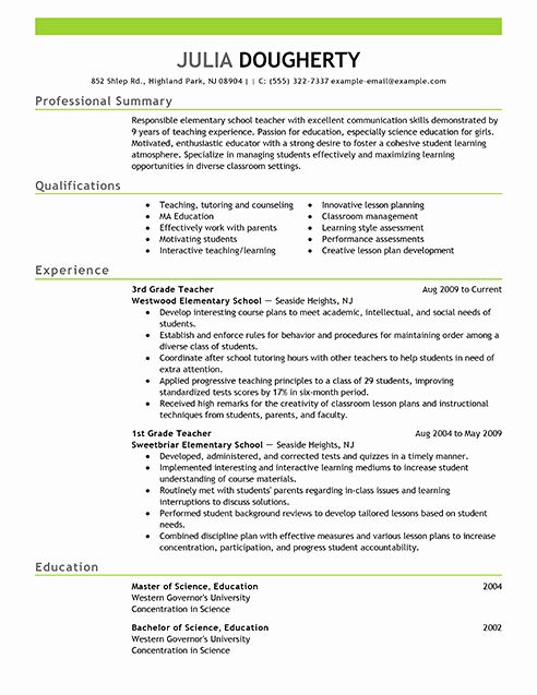 Resume Examples Free Resume Example Resource