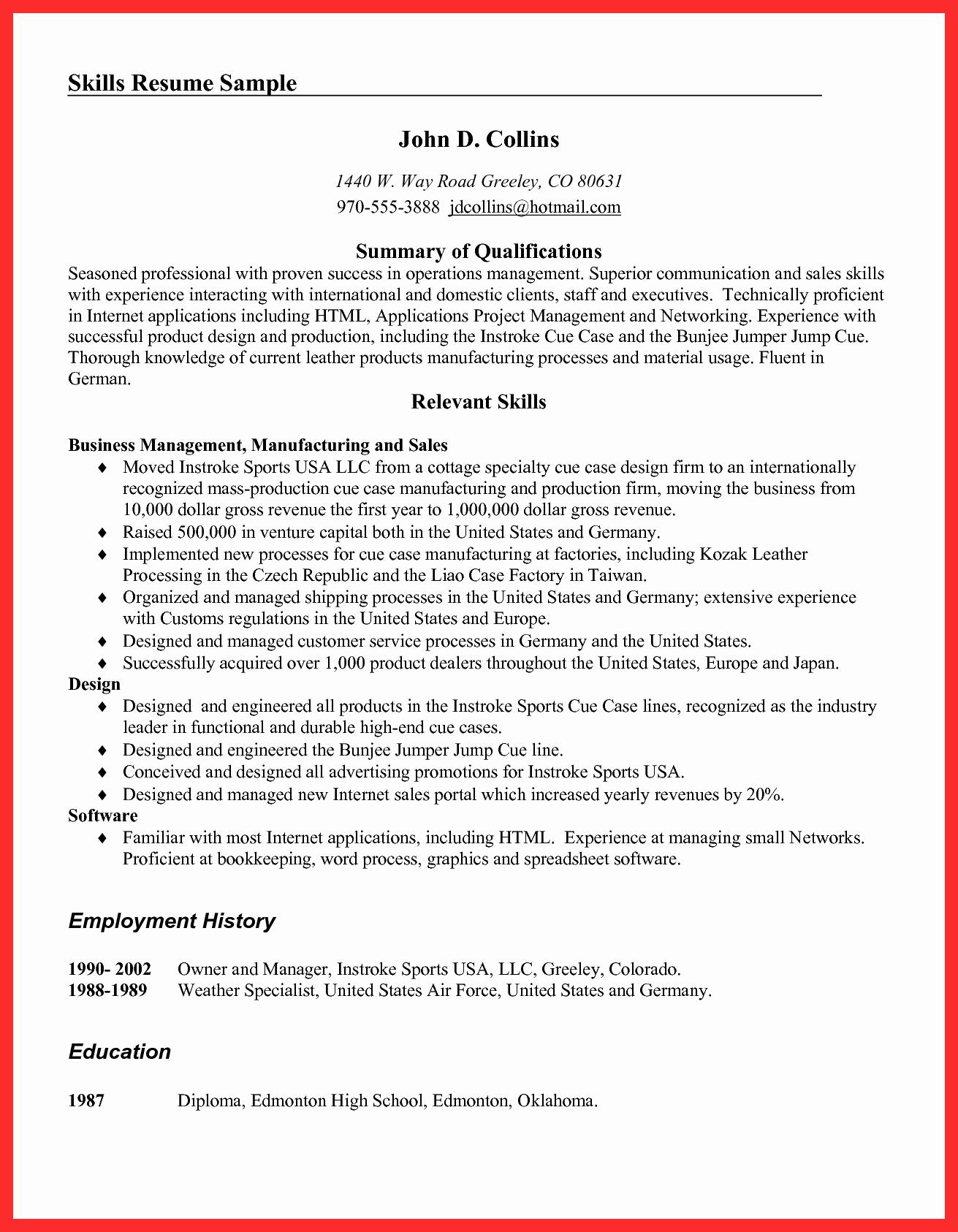 Resume Examples Pdf