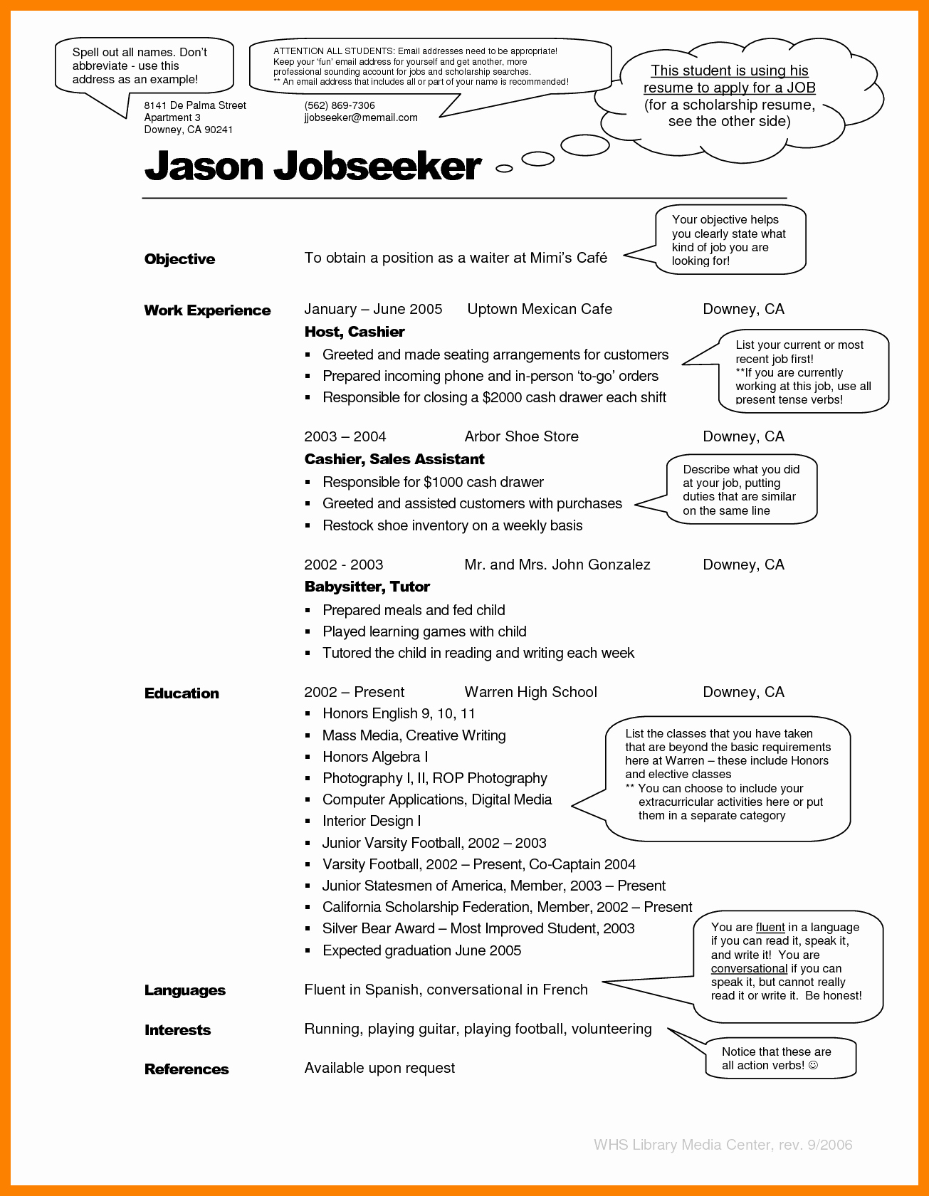 Resume Examples Professional
