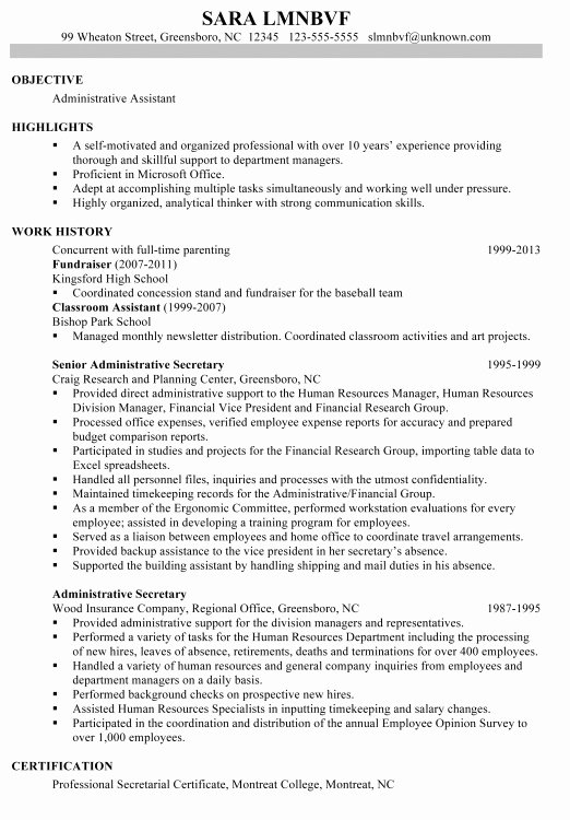 Resume Examples Reentering Workforce
