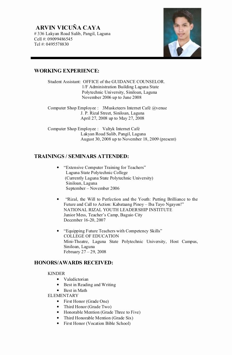 Resume Examples that Work Invoice Pinterest