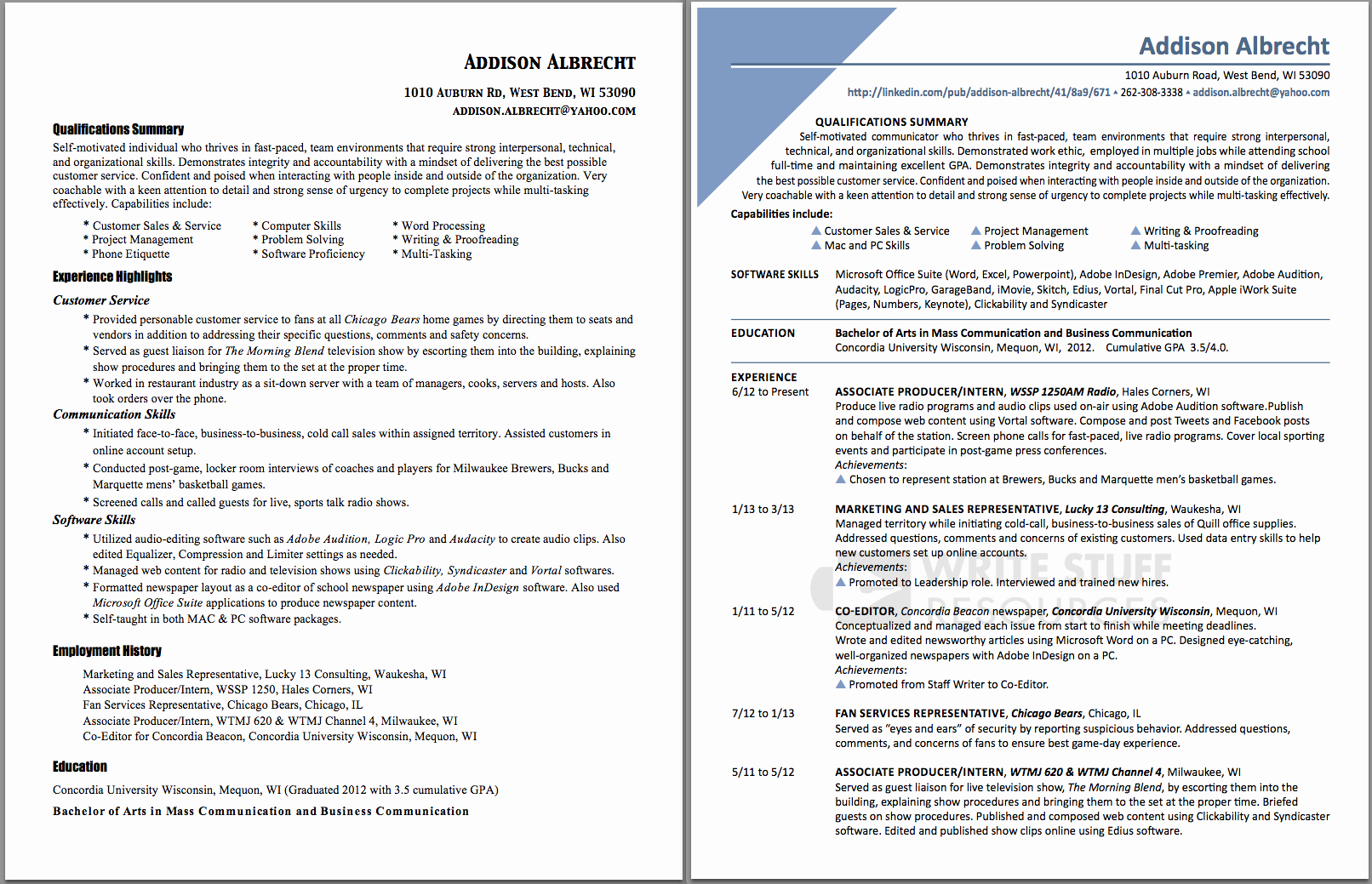 Resume Examples when Changing Careers – Perfect Resume format