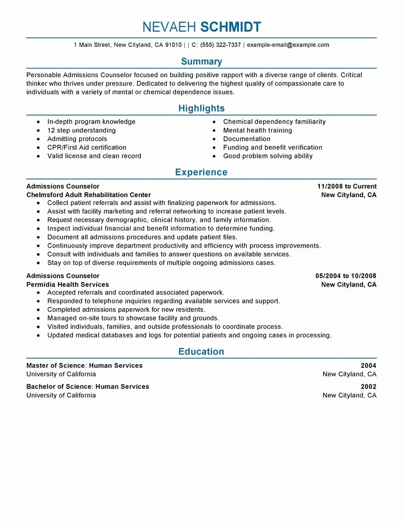 Resume Experience order Resume Ideas