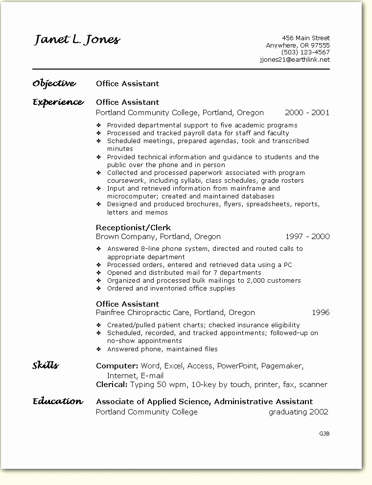 Resume Fice Skills Best Resume Gallery