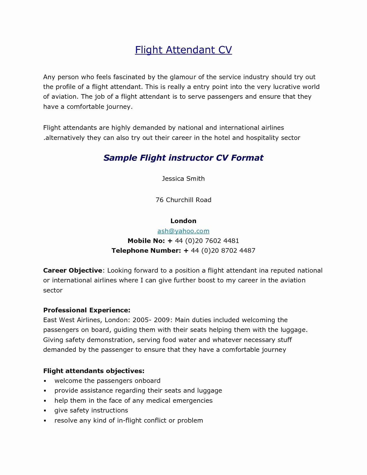 Resume Flight attendant Cover Letter Sidemcicek