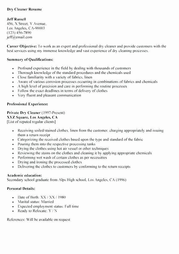 Resume for A Cleaning Job Christiantodayfo