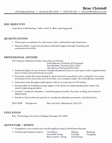 Resume for A Marketing Sales Professional Susan Ireland