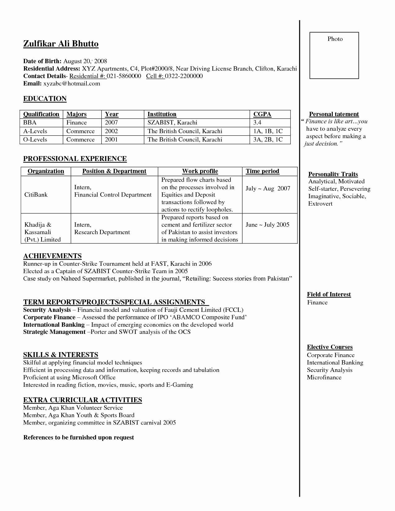 Resume for Banking Jobs Freshers Sidemcicek