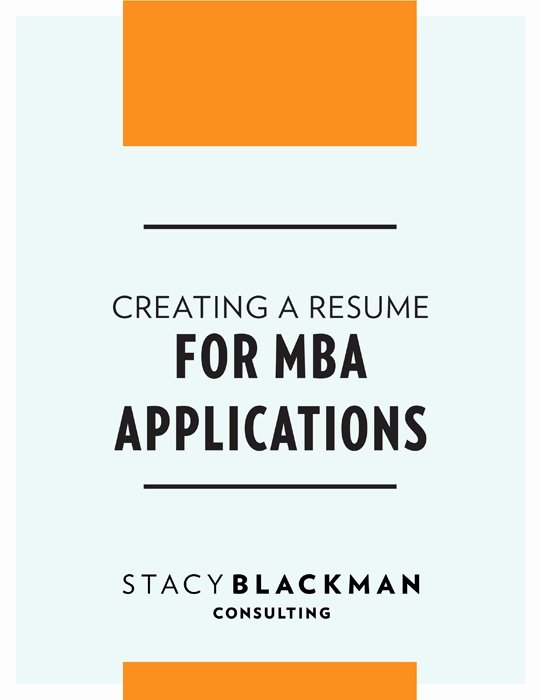 Resume for Business School Application Best Resume