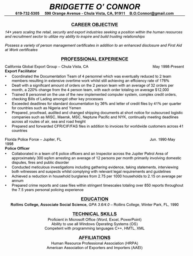 Resume for Career Change