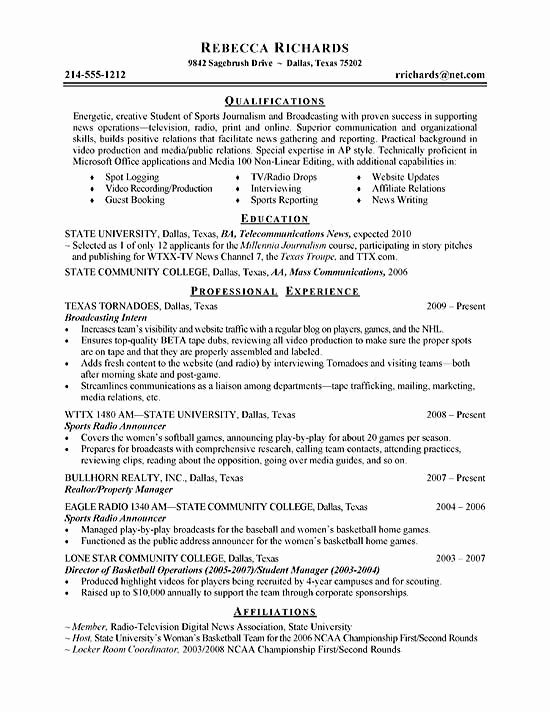 Resume for College Internship Best Resume Collection