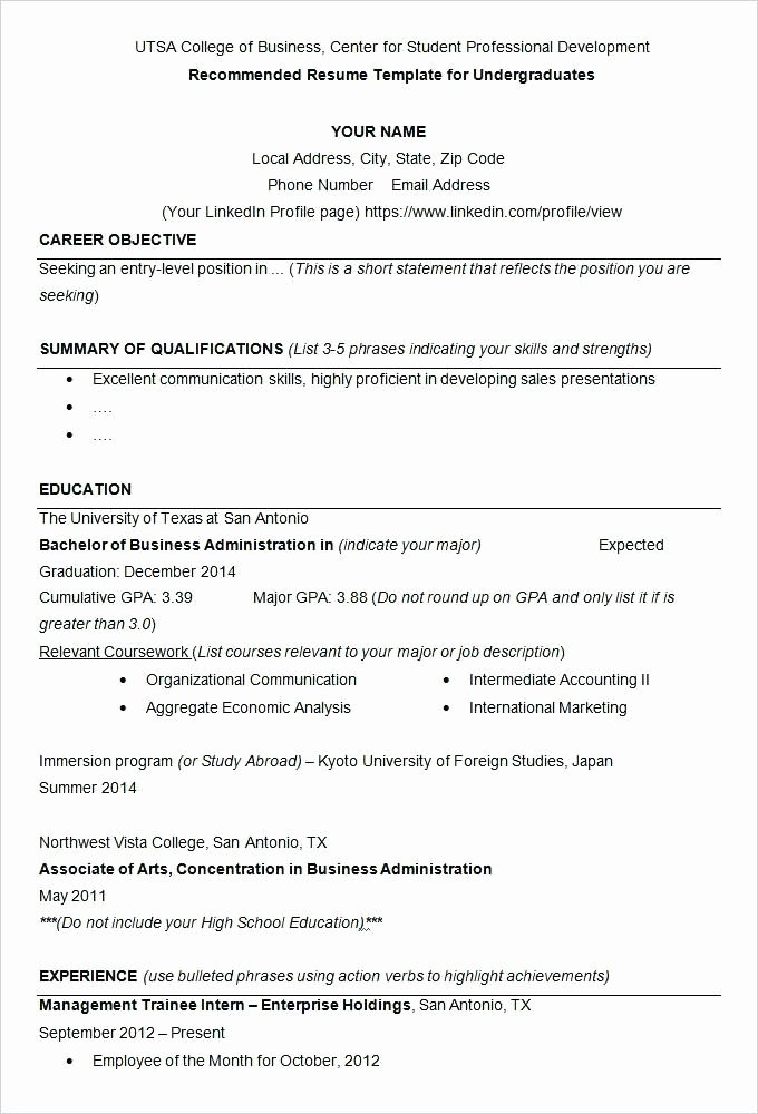 Resume for College Scholarship Best Resume Collection