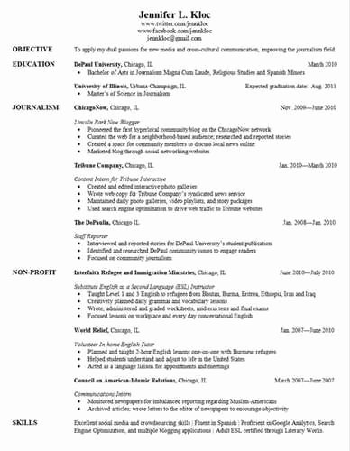 Resume for Graduate School Application Great Application