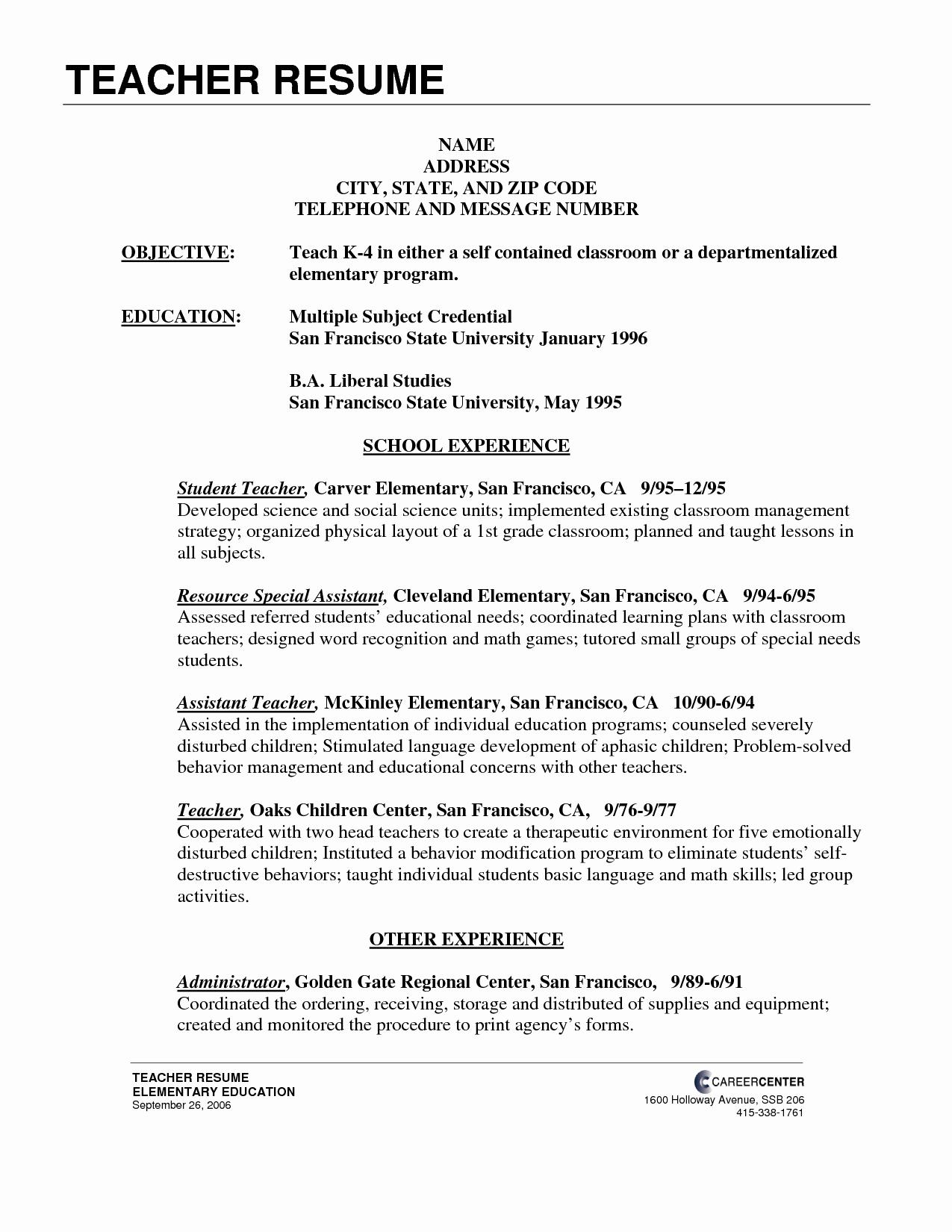 Resume for Hindi Teacher Resume Ideas