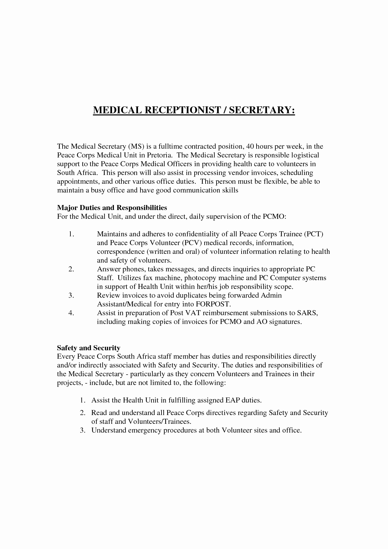 Resume for Hotel Receptionist with No Experience