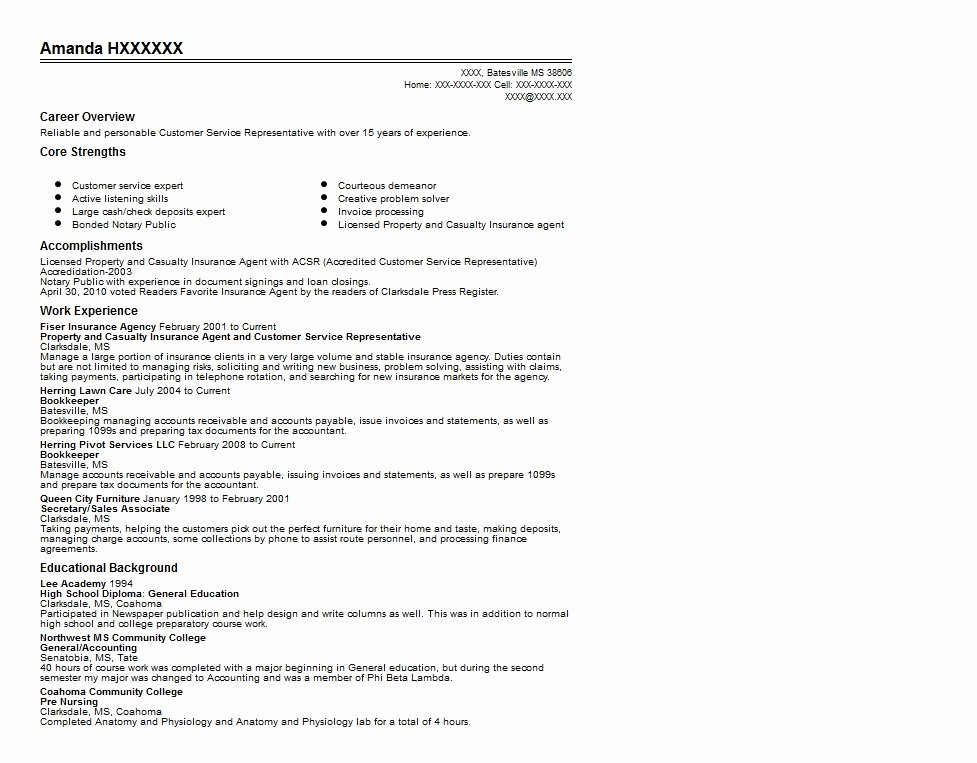 Resume for Insurance Agent Best Resume Collection