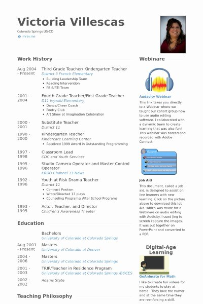 Resume for Kindergarten Teacher Resume format Kindergarten