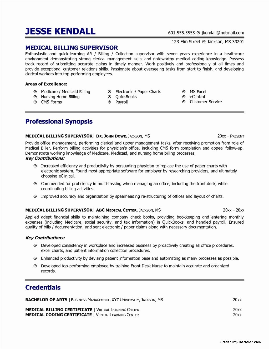 Resume for Medical Billing Job Resume Resume Examples