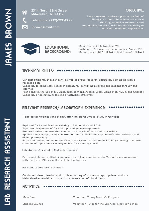 Resume for Project Manager In 2016 2017
