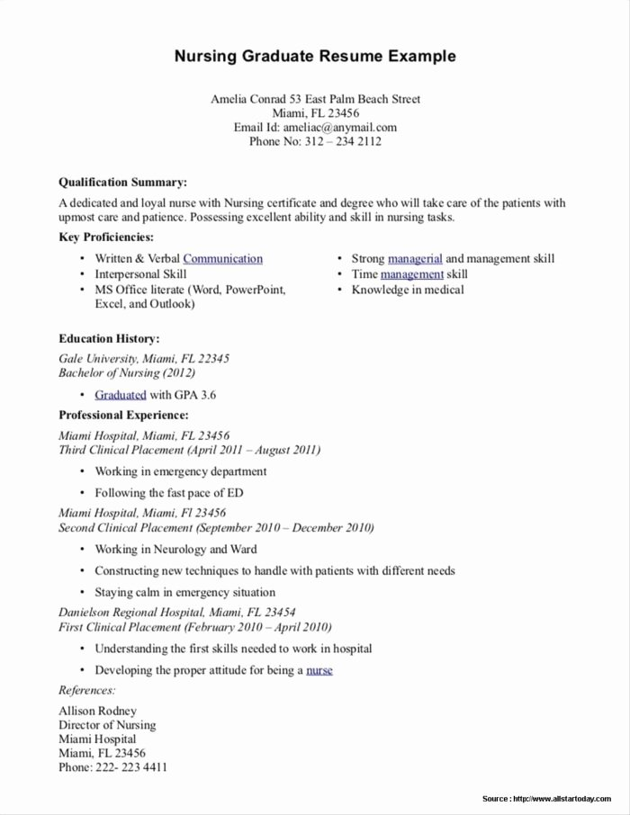 Resume for Recent College Graduate Template Resume