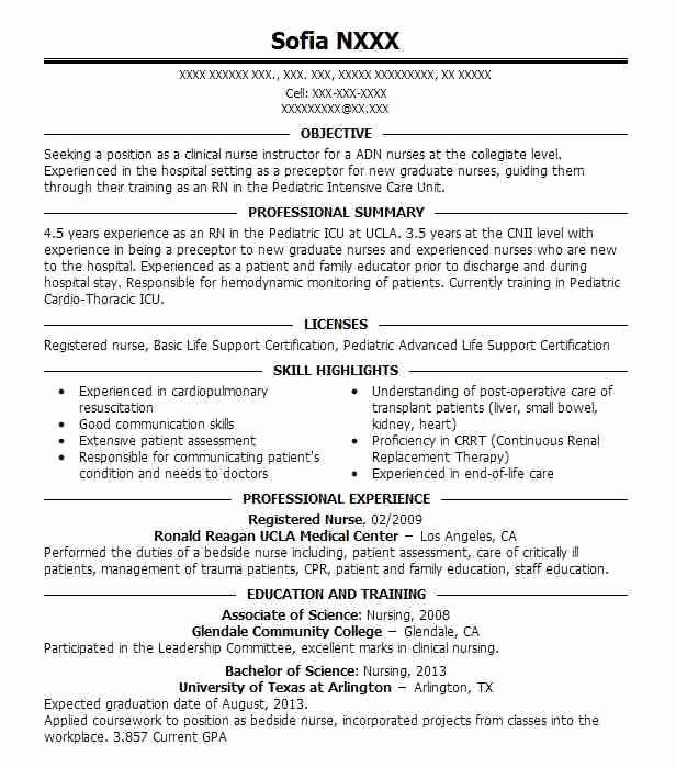 Resume for Registered Nurse F Resume