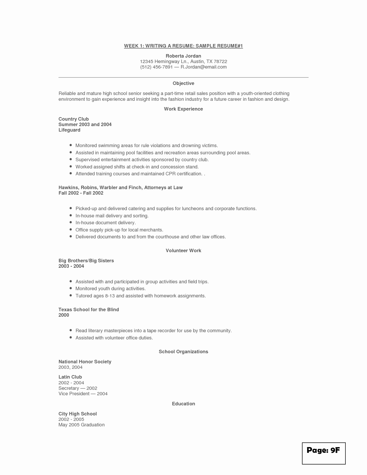 Resume for Retail Clothing Store Sidemcicek